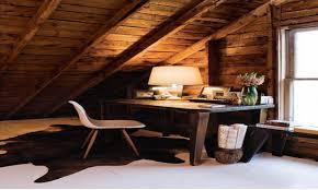 alcove bookcase attic office rustic rustic country home decor