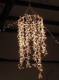 Lights Chandelier Hula Hoop White Lights Chandelier Kidlets