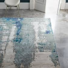 painterly abstract rug blue room rugs living rooms and walls