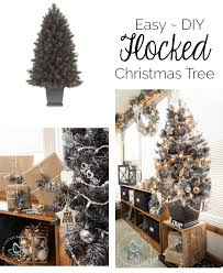 easy diy flocked tree and wreath designed decor