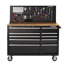 husky 52 in pegboard back wall for tool cabinet black mobile