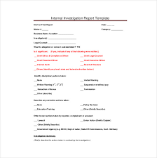 Presentence Investigation Report Template Investigation Report Presentence Investigation Report Template