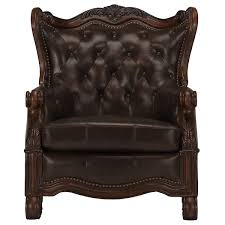 city furniture regal tone leather accent chair