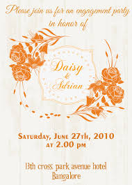 Hindu Invitation Cards Wordings Free Rose Theme Engagement Invitation Card With Wordings Check It