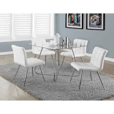 glass chrome dining table contemporary 4 seating square casual dining table chrome