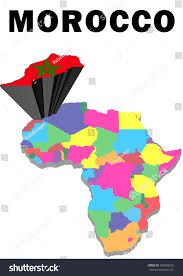 Outline Map Of Africa by Outline Map Africa Morocco Raised Highlighted Stock Illustration