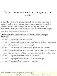 free resume templates for accounting manager interview question maintenance manager resume sles