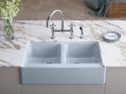 Undermount Kitchen Sink With Faucet Holes Standard Plumbing Supply Product Kohler K 6534 4u Fp Hawthorne