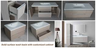 Solid Surface Cabinets Rectangle Toto Corian Solid Surface Cabinet Sink Wash Hand Basins