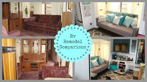Rv Renovation Ideas by Before U0026 After Rv Remodel Comparison Youtube