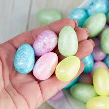 pastel easter eggs miniature glittered pastel easter eggs and easter