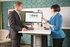 Used Adjustable Height Desk by Moddesk Pro L Shaped Corner Standing Desk Multitable