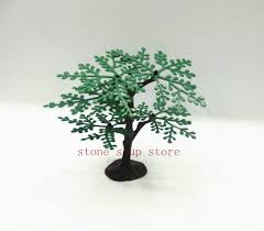 shop 6pcs mini green tree plastic small tree placed in the