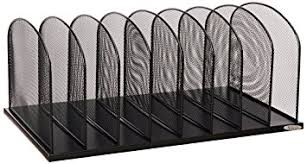Safco Desk Organizers Safco Products 3253bl Onyx Mesh Desktop Organizer