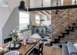 cuisine industrielle loft loft scandinave visite déco décoration intérieure