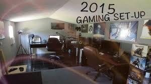 epic gaming room set up 2015 youtube