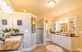 Master Bathroom Floor Plans With Walk In Shower by His And Her Sinks On Opposite Sides Of The Master Bathroom No