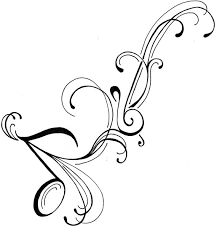 music note and treble clef tattoo design by silverwingstattoos at