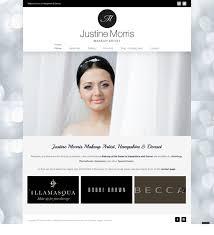 makeup artist websites justine morris makeup artist dan ashton website design in poole