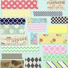 Washi Tape Designs by Set Of 20 Digital Mega Pack Washi Tape For Digital Scrapbooking