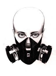 gas mask by grace j c on deviantart