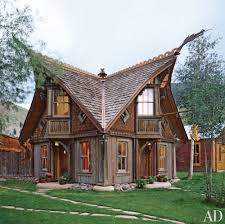 Home Exterior Decor Awesome Classic Rustic Home Exterior Decor With Garden With Brown