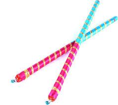 Decorate Dandiya Sticks Home by The Nodding Head Dandiya Raas Pink And Sky Blue Dandia Sticks