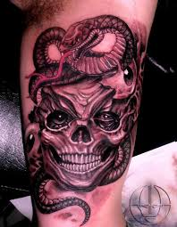 tribal snake and skull tattoo designs photo 2 2017 real photo