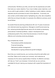 Summary In A Resume Professional Summary Template 10 Resume Career Summary Example