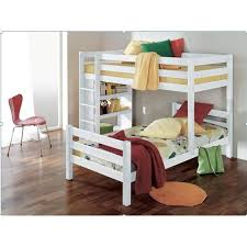 chambre enfant lit superposé lit superposé 90x200 angulaire pour enfant coloris blanc achat