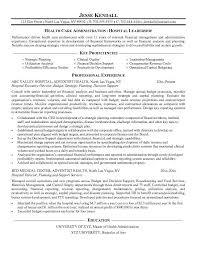 download hospital administration sample resume