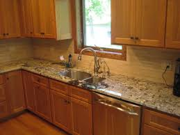 granite countertop mounting kitchen cabinets classic backsplash