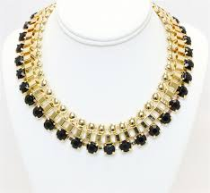 chunky fashion necklace images Black and gold chunky fashion necklace fashion necklace black jpg