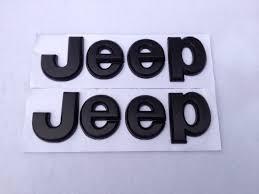 jeep black emblem jeep flat matte black emblem badge sticker logo decal