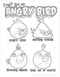 don u0027t angry bird anger management kids printable