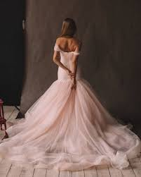 pink wedding dress unique pink wedding dress with ombre skirt the shoulder