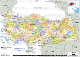 Greece Turkey Map by Geoatlas Countries Turkey Map City Illustrator Fully