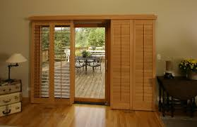 Bypass Shutters For Patio Doors Sliding Glass Door Shutters In Sunburst Shutters Az