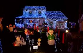 christmas lights in south jersey south jersey family thank police with christmas light display