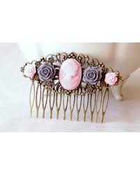 bridal hair comb savings on pink cameo hair comb cameo hair