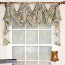 swag curtains valances youll love wayfair for dining room