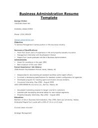Public Administration Resume Objective Administrative Resume Template Saneme