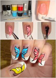 butterfly nail art designs step by step at home