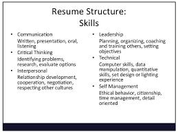 management skills in resume leadership skills in resumes enom warb co