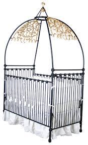 gothic iron canopy crib
