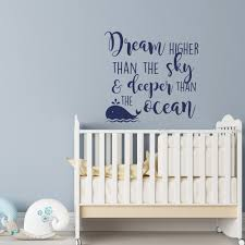 online get cheap sky quotes aliexpress com alibaba group inspirational quote wall decal dream higher than the sky and deeper than the ocean removable boy bedroom waterproof decal syy172