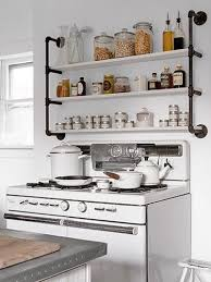 ideas for kitchen shelves kitchen pipe shelves kitchen best industrial pipes images on
