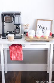 Kitchens Ideas For Small Spaces Diy Coffee Bar Ideas For The Kitchen U0026 Entertaining Fantabulosity