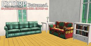 Patterned Sofa Bed I Recently Downloaded Trapping U0027s Ektorp Sofa Bed And Then I