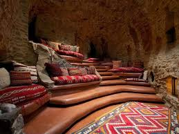 Home Theater Seating Design Tool by Relax In The Cave Tiered Terracotta Seating Lends This Home